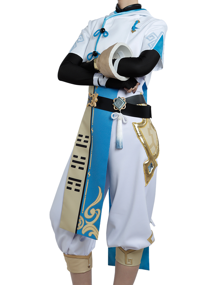 Cosonsen Genshin Impact Chongyun Cosplay Costume Liyue Nation Outfit Custom Made
